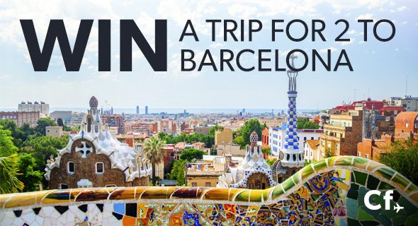 Win a trip for two to Barcelona in our #CheapflightsChallenge! Just hit this link to enter: https://t.co/MCV18Wq4sZ https://t.co/1MyfTGY1ec