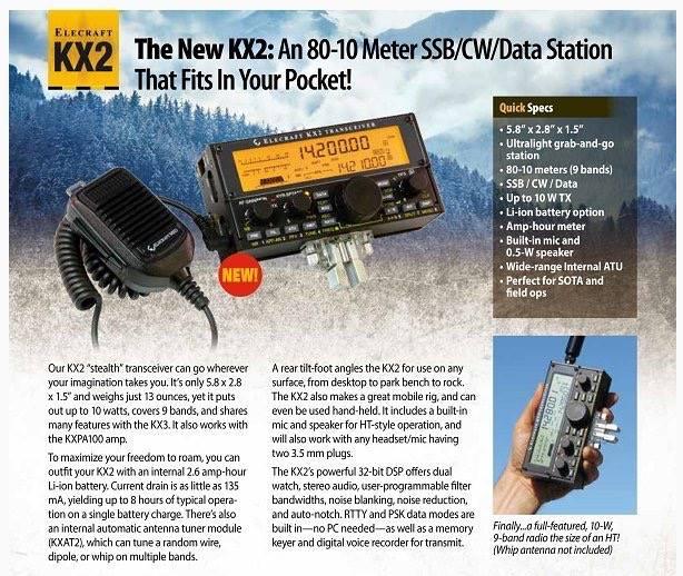 WØEA Blog!: Elecraft KX2: The end of kits for Elecraft