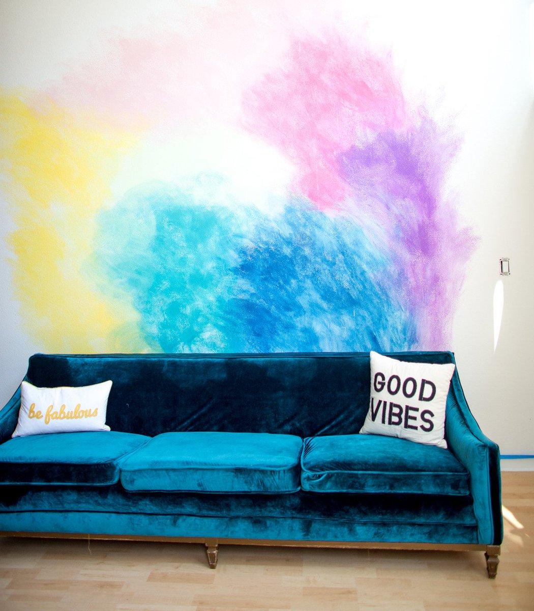 Diy Watercolor Wall Mural Diy Do It Your Self