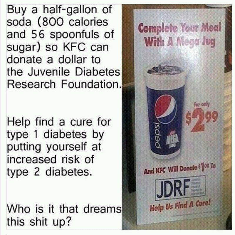 How not to donate to a diabetes charity CiwPpQeWEAE-Xbp