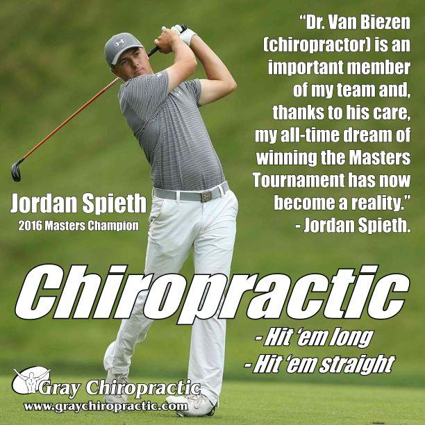 「Jordan spieth and chiropractic」の画像検索結果