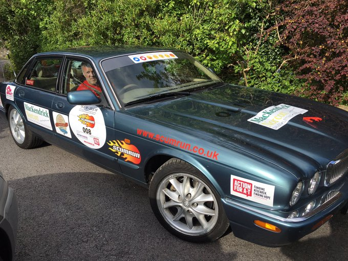 RT @Chemicalee10: On the way to the pre-launch party! @scumrun @achrisevans £5,500 raised for charity so far! @ActionforAT https://t.co/psI…