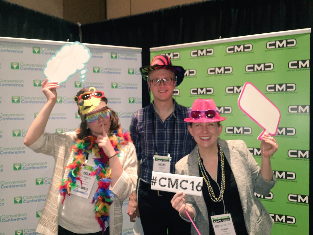 We are having a great time at Content Marketing Conference Vegas! #CMC16 @CMCa2z #contentmarketing https://t.co/nt2ThUMiP4