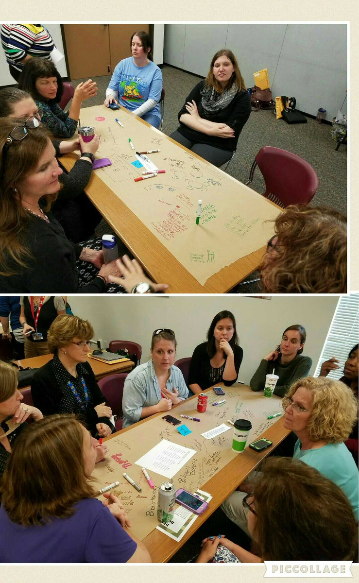 Library Café participants continue thoughtful, collaborative conversations to connect and reflect #bcpslms https://t.co/hOhCzkC4WR