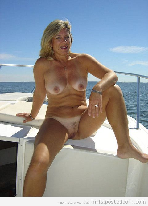 pussy spread on a boat