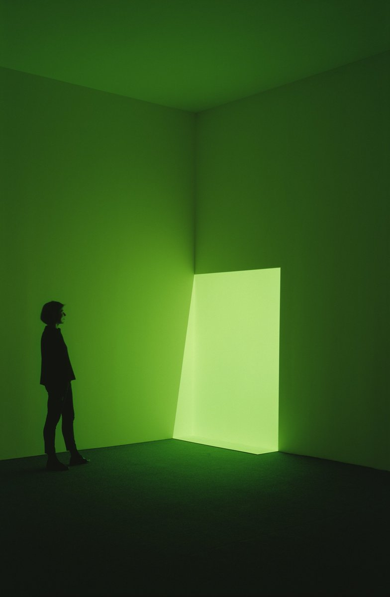 """I put you in a situation where you feel the physicality of light""—#JamesTurrell Photo by Florian Hoelzer. https://t.co/5Kk6KTC9RS"