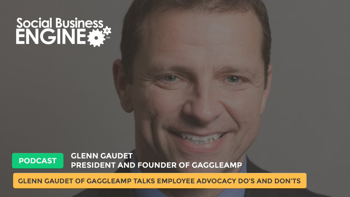 .@glenng Talks #EmployeeAdvocacy Do's and Don'ts on the @sbengine #podcast https://t.co/7rL1UNYZjS https://t.co/imu7kqeHP7