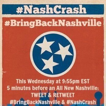 Share if u want @Nashville_ABC to survive - on @Netflix, @Hulu, @CMT or @gactv? Tweet at 9:55ET @JessicaSiriusXM https://t.co/eADveFjLJb