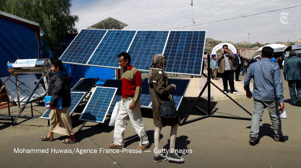 In Electricity Starved Yemen Solar Panels Power Ice Cream