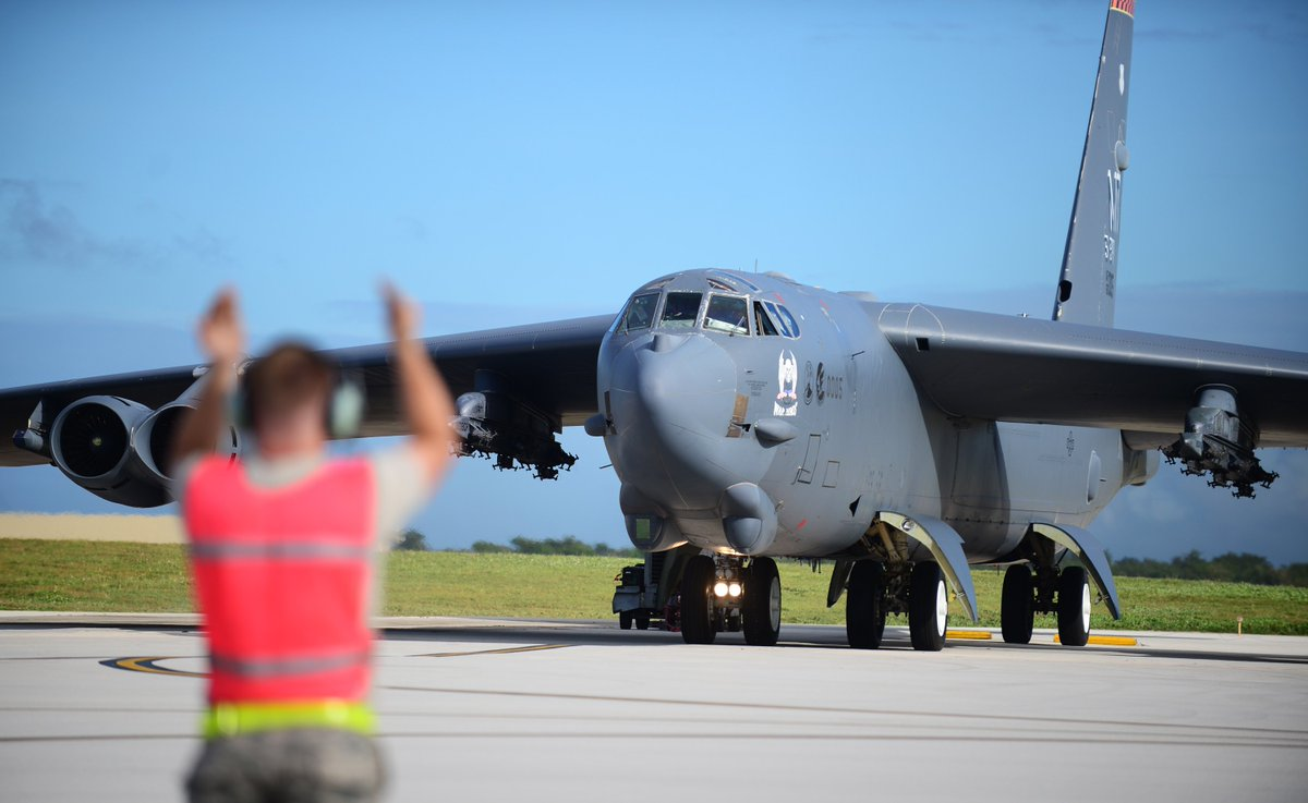 Minot crew safe after B-52 crash at Andersen AFB, Guam. Incident under investigation. More info to come. https://t.co/cMlHM1zejt
