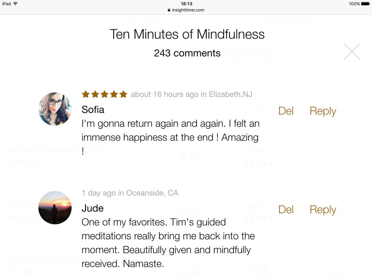 Want your day to go with a swing & a swagger? Take 10 Minutes of #Mindfulness on the @InsightTimer #meditation app https://t.co/FEAnwxcidt