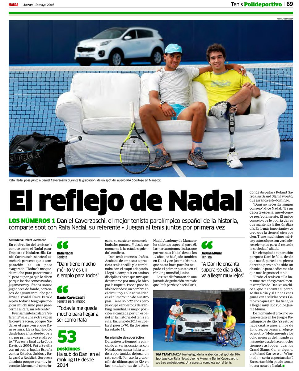 Tanika On Twitter Rafael Nadal With Daniel Caverzaschi During The Recording Of A Commercial Of Kia Sportage In Manacor