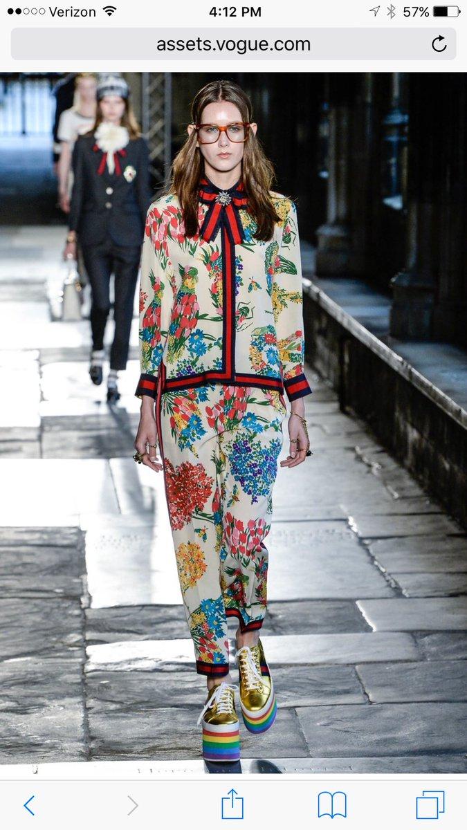 4b41a8fa3a3 Love the rainbow platform shoes!  gucci  guccicruise17 - scoopnest.com