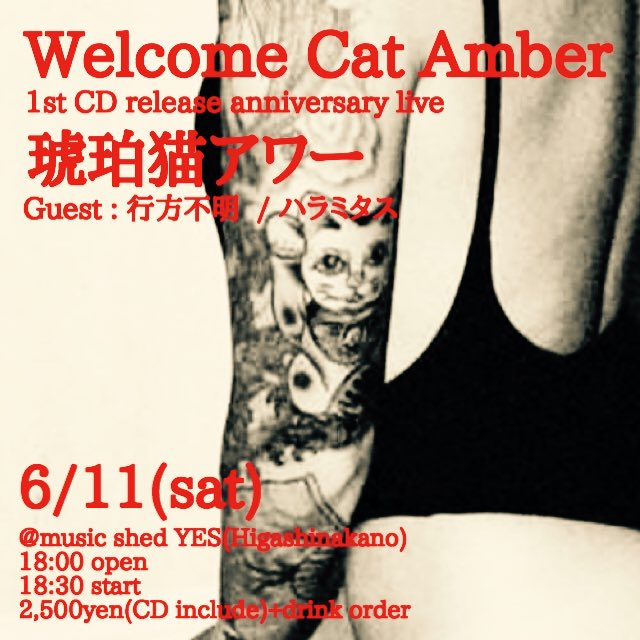 [WCA] Welcome Cat Amber レコ発ライブ!