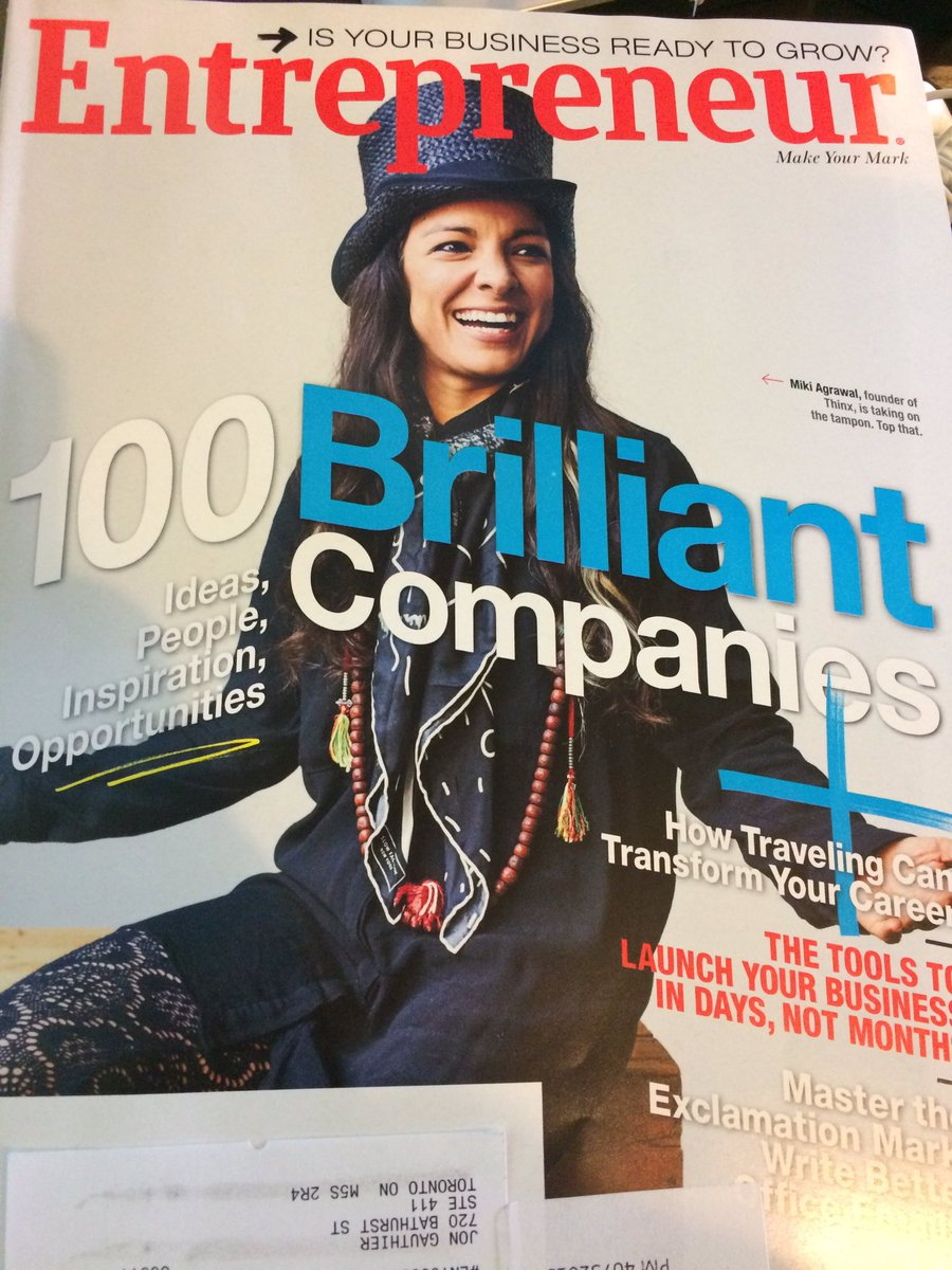 Congrats Miki @twinmiki on getting the cover of #entrepreneur magazine cc @theresalaurico @radhatwin https://t.co/PVcoHdwyop