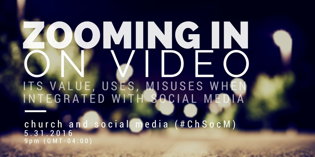 Join us. 9pm EDT. Church and Social Media (#ChSocM) discussion. It shall rock. https://t.co/4VAD7EEhm9
