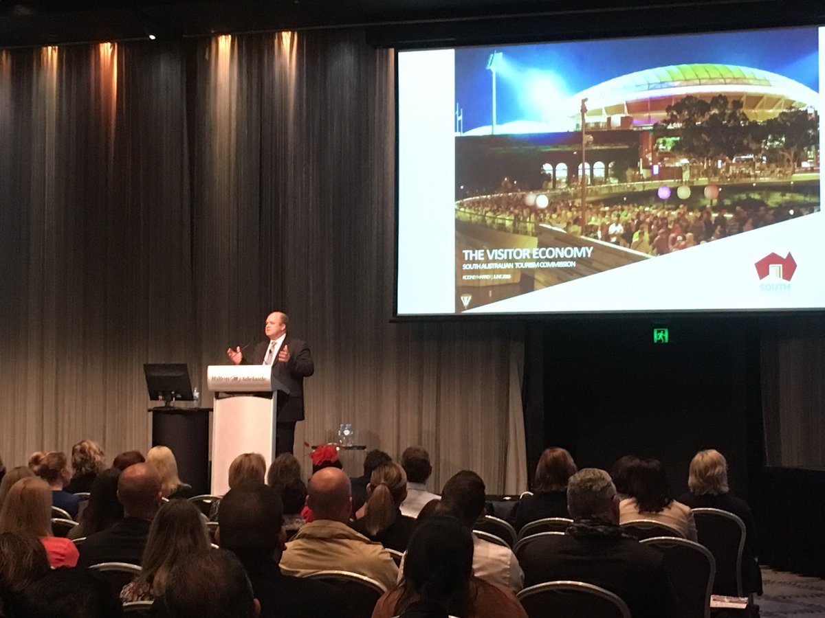 Our CE @rodharrex addresses the crowd on our visitor economy #2016SATIC https://t.co/n0HiWu0Lko
