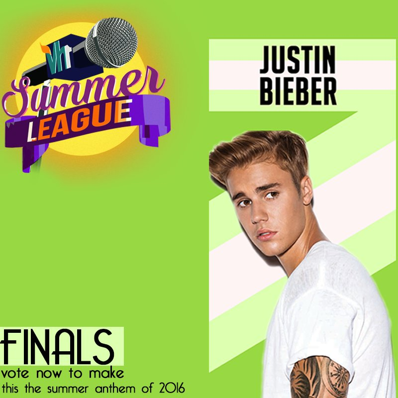 #Vh1SummerLeague FINALS contender 2 is @justinbieber! Want him to WIN THIS? Then RT and LIKE this tweet to VOTE! https://t.co/Sk6wyXTPYo