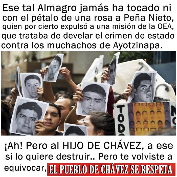 Resultado de imagen de Almagro + Peña Nieto