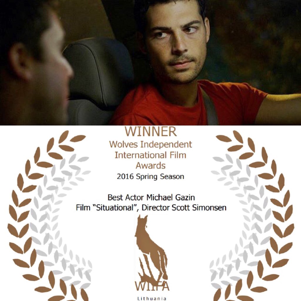 The biggest congratulations to my love @michaelgazin for winning Best Actor for his film #Situational at #WIIFA! ❤️