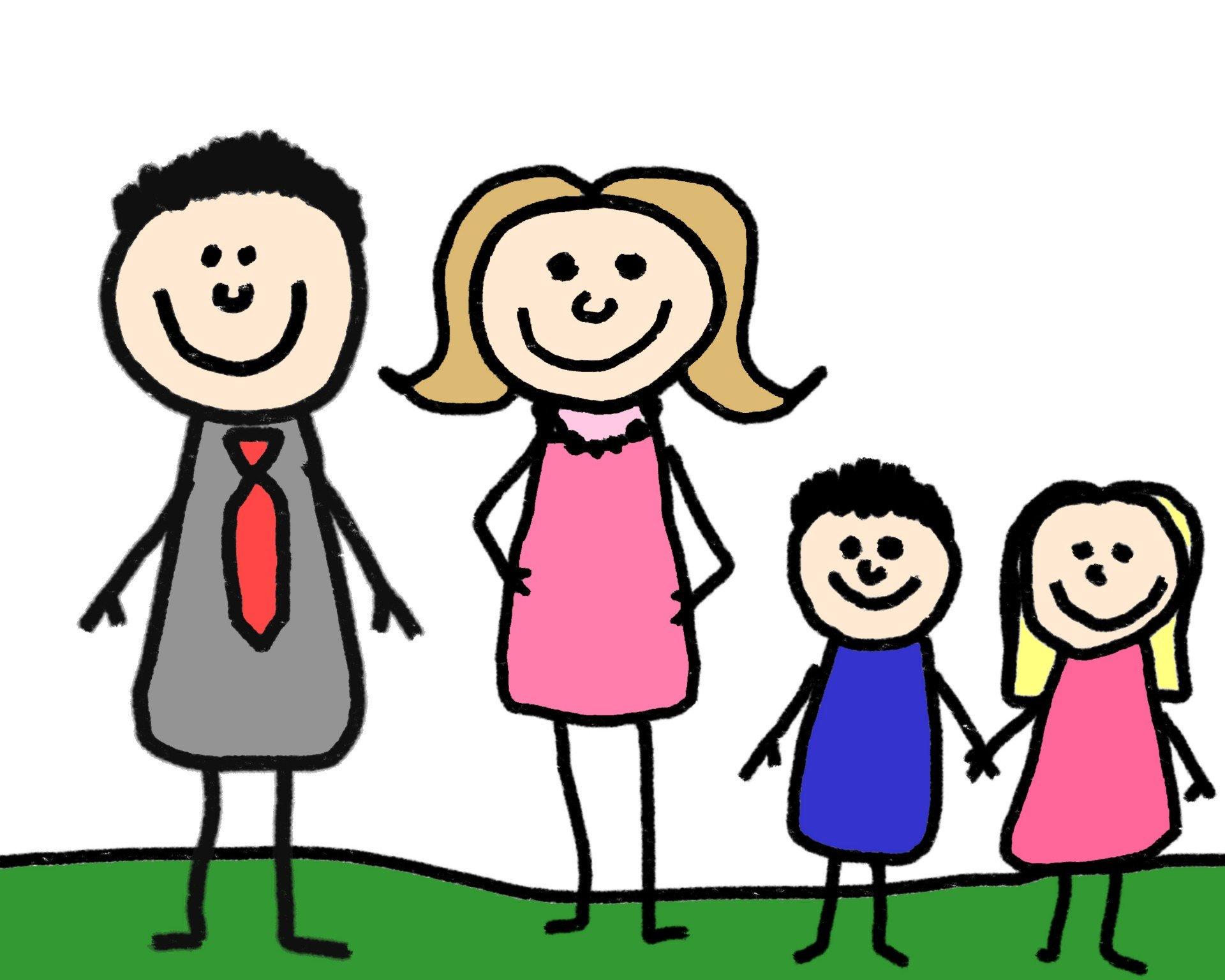 Веселые семейные картинки нарисованные