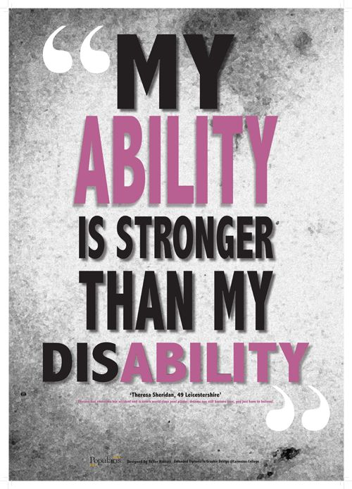 My #ABILITY is stronger than my #disability RT if you agree!!<br>http://pic.twitter.com/qPj2a8O8Ho