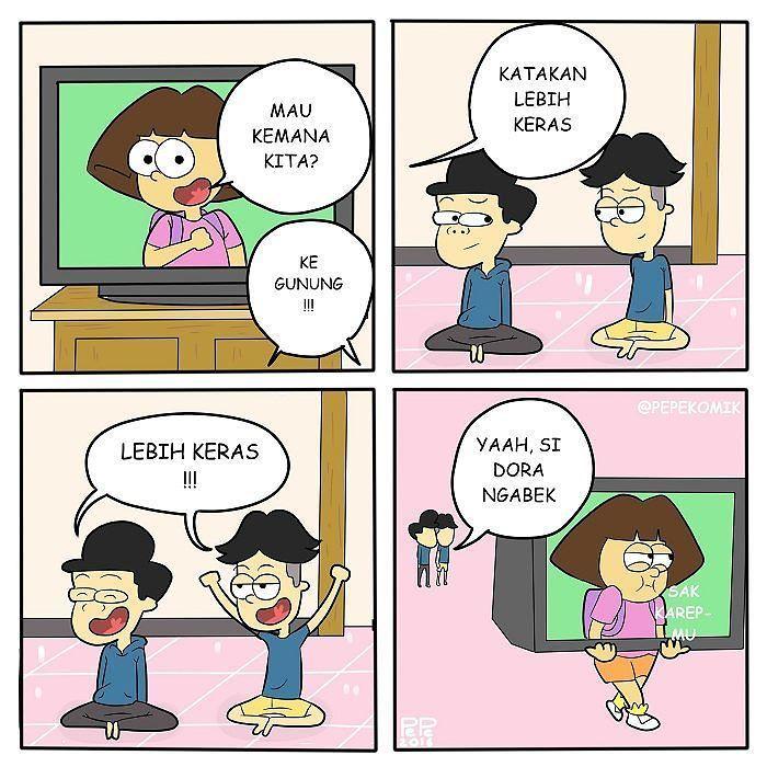 PePe komik  on Twitter Mungkin Dora lagi PMS kolaborasi