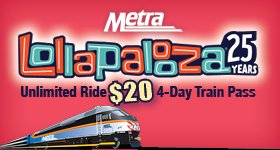 Want a chance to go to @Lollapalooza? Follow @Metra & Retweet this post for a chance to win! Ends 7/15 #Metrapalooza https://t.co/Ay9QJQxFHT