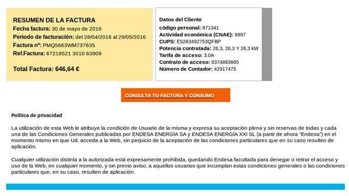 !Ojo! Desde ayer  un campaña de #spam, se difunde usando facturas falsas por servicios de electricidad. #ransomware https://t.co/45H51QX2dG