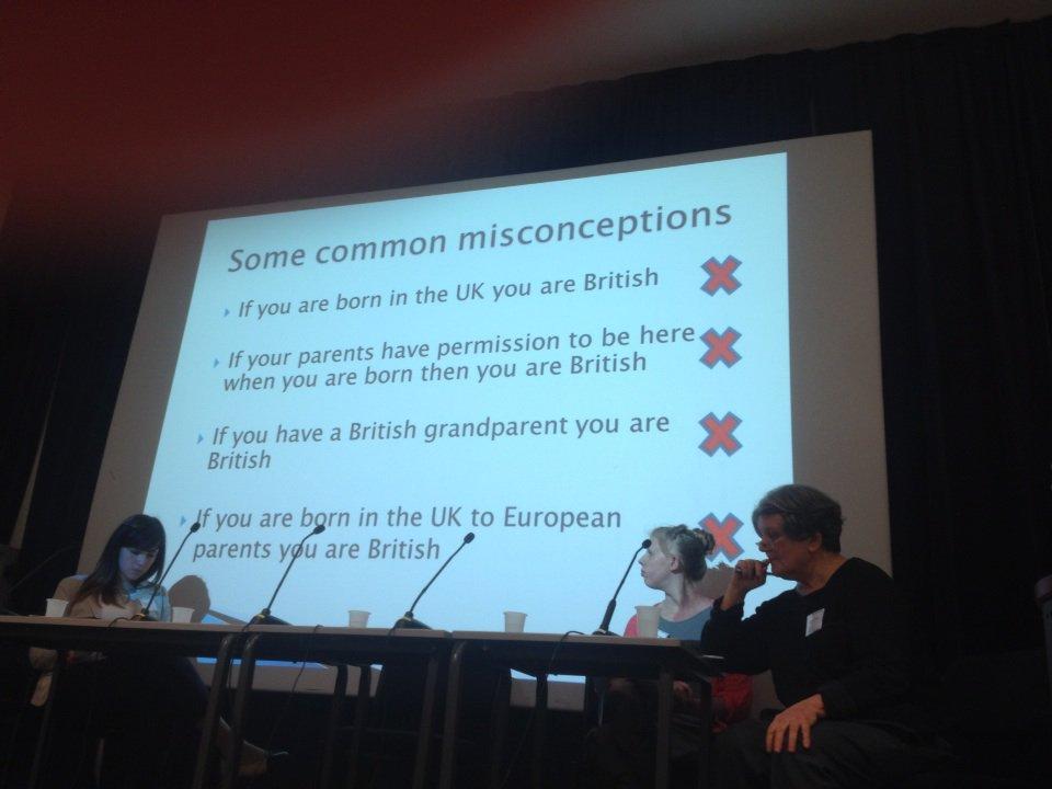 Being born in UK not auto = citizen says Anna Skehan #precariouscitizenship @MiCLUteam @birkbeckgeds https://t.co/o6hfJLdGvh