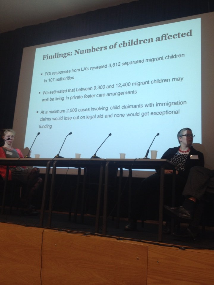 Large numbers of children losing legal rep'n after w/d legal aid #precariouscitizenship @MiCLUteam https://t.co/RwWnXuGpjB
