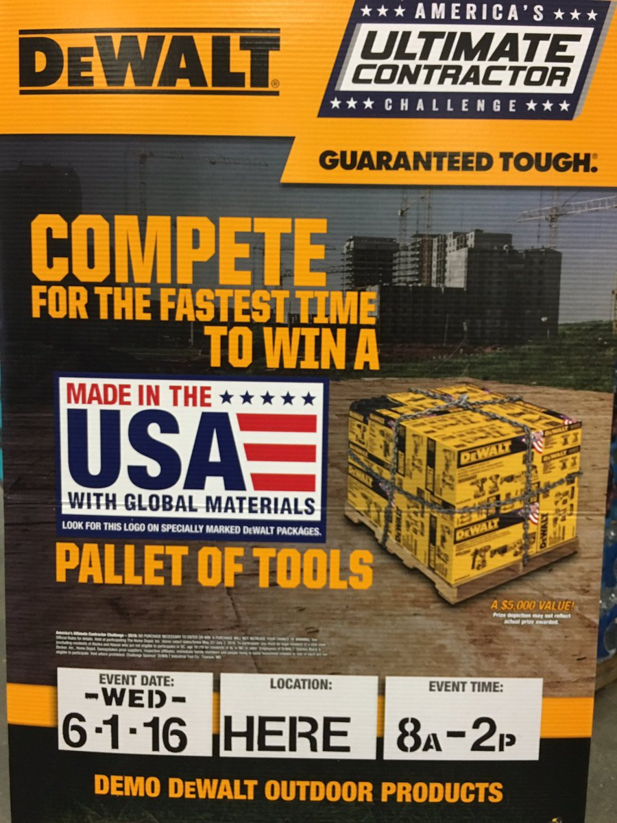 "David Huntsman on Twitter: ""Dewalt Ultimate Contractor Challenge ..."