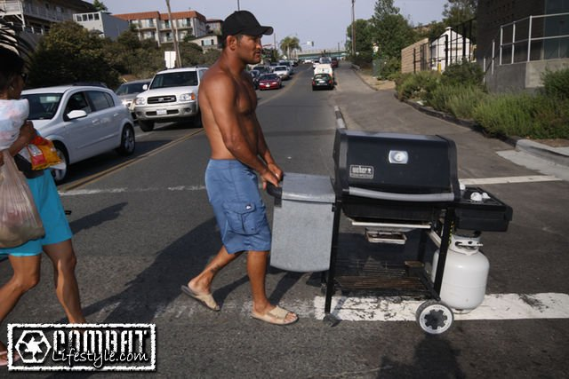 Image result for dan henderson pushing grill