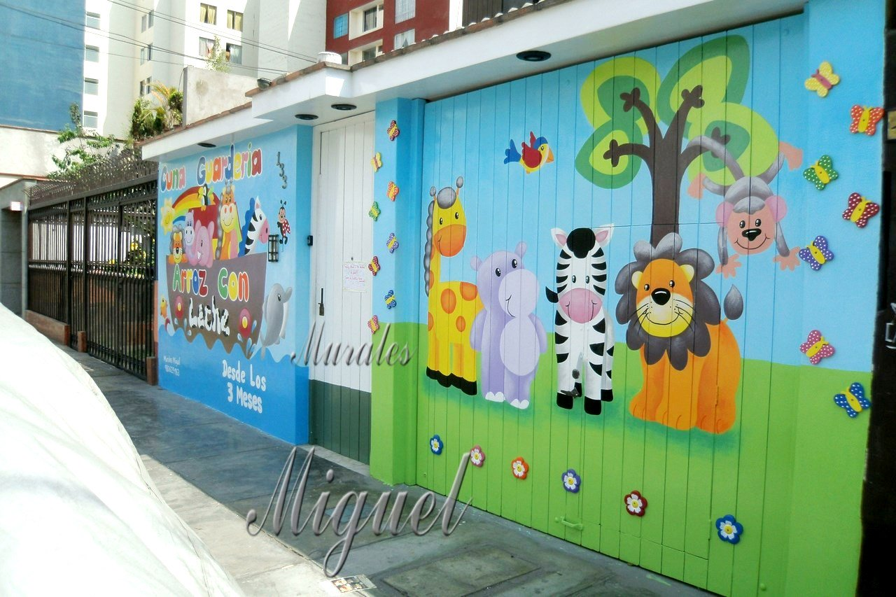 Murales miguel on twitter hola pinto murales infantiles for Murales decorativos para exteriores