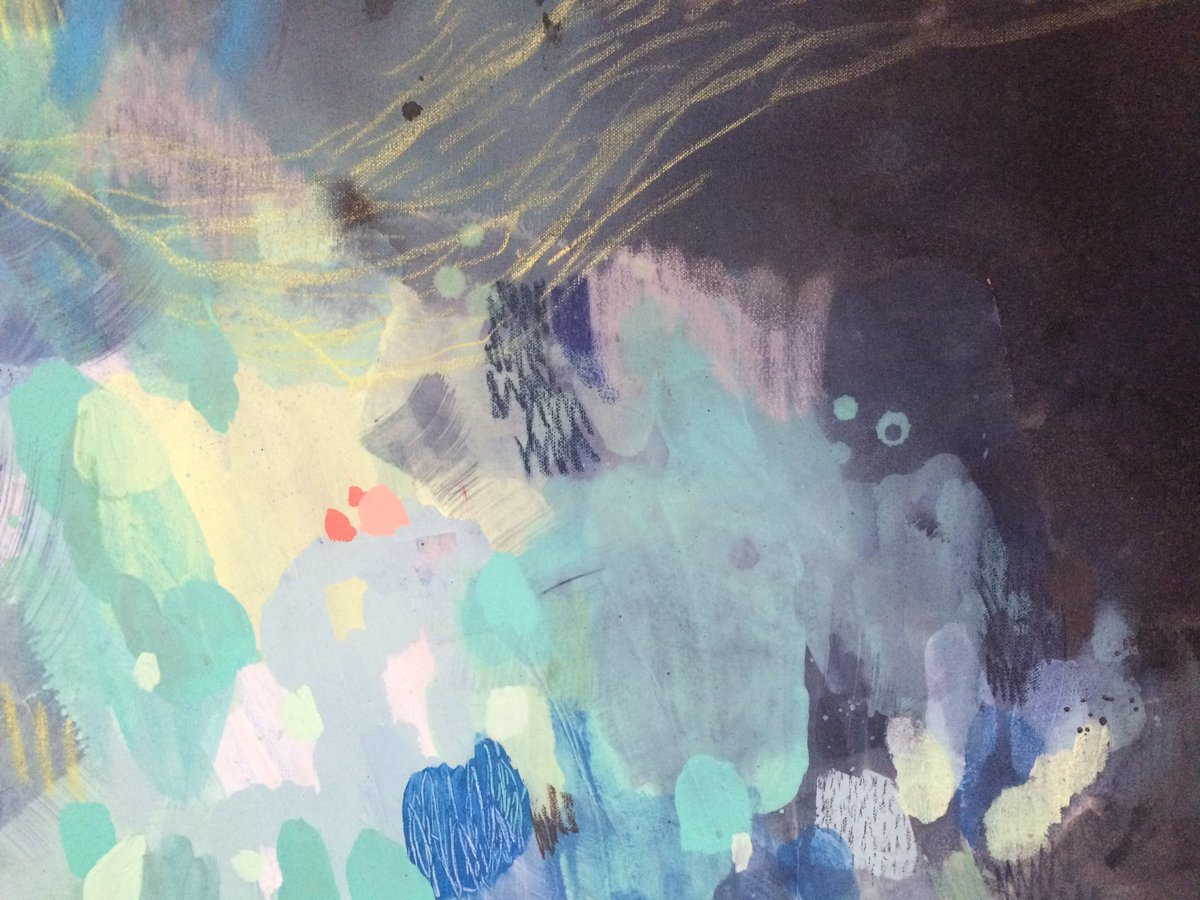 Sarah Delaney On Twitter Detail Colour Love Explosion On The Middle Of The Canvas Art Vancouver Yvrarts Abstract Painting