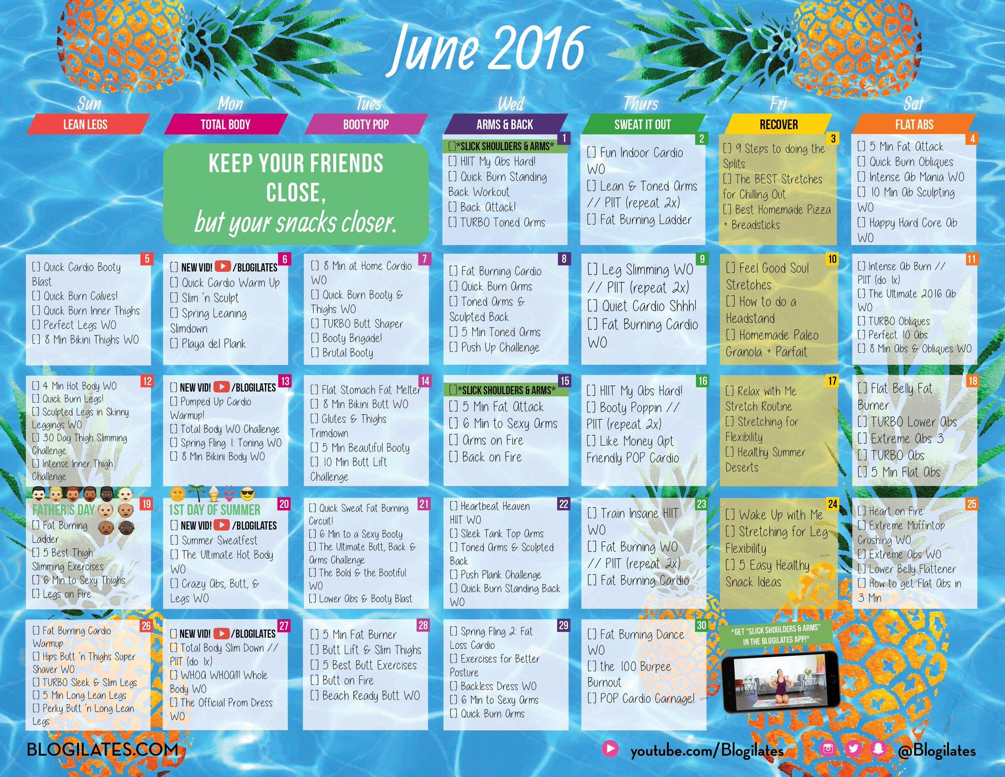 June Calendar Ilates : Cassey ho on twitter quot who s doing the june