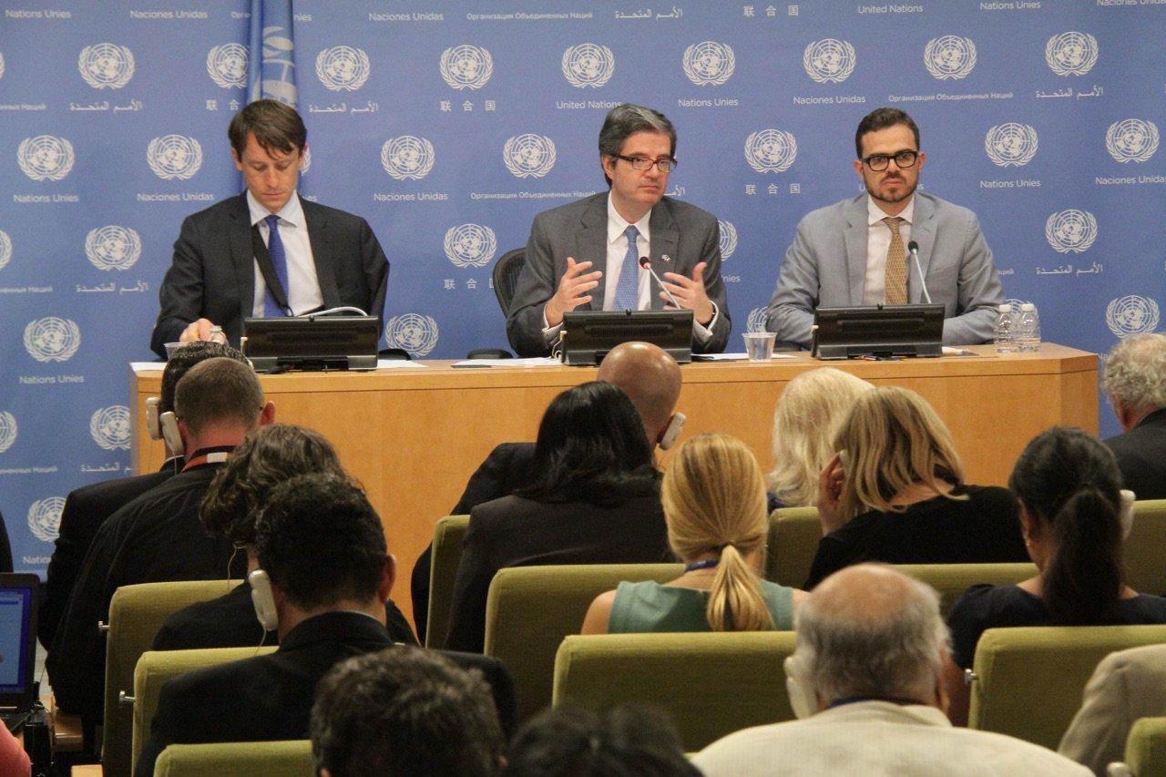 """""""Le maintien de la paix est la colonne vertébrale de notre Présidence du Conseil de sécurité"""" - Amb Delattre #FrPrez https://t.co/gbRi8ZnEFZ"""