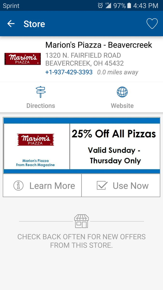 coupon for marions pizza