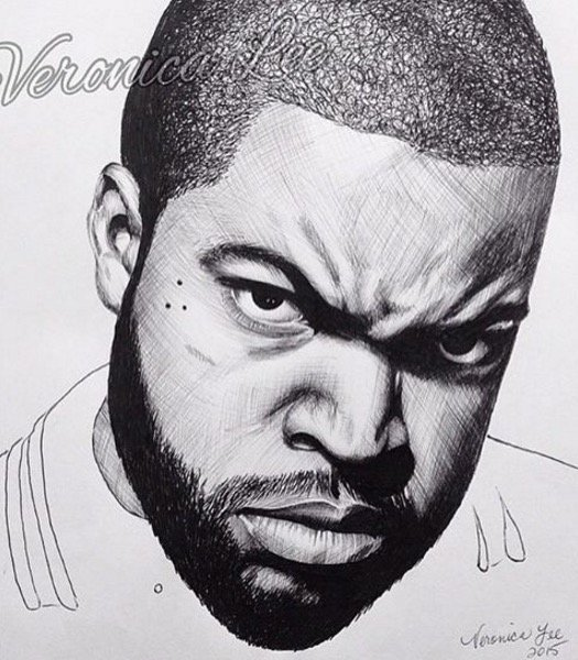 "Ice Cube on Twitter: ""Dope pen and ink artwork by veronica ..."