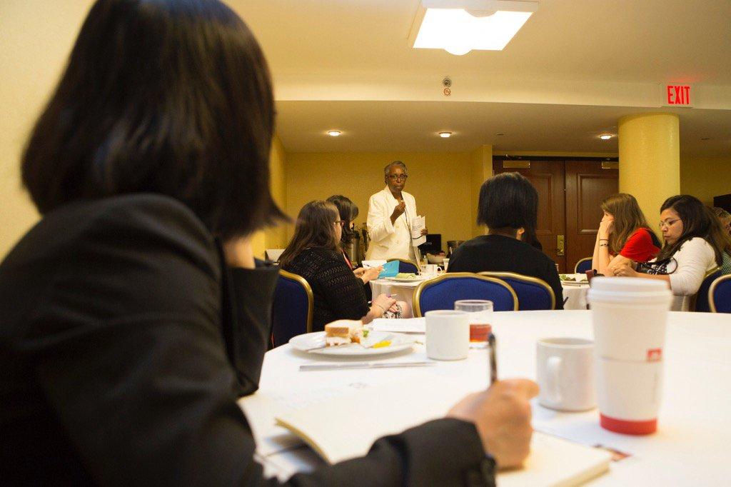 Celeste Pea, NSF, speaks to CAREER awardees at today's #drk12meeting. https://t.co/AxmbP7VjRe