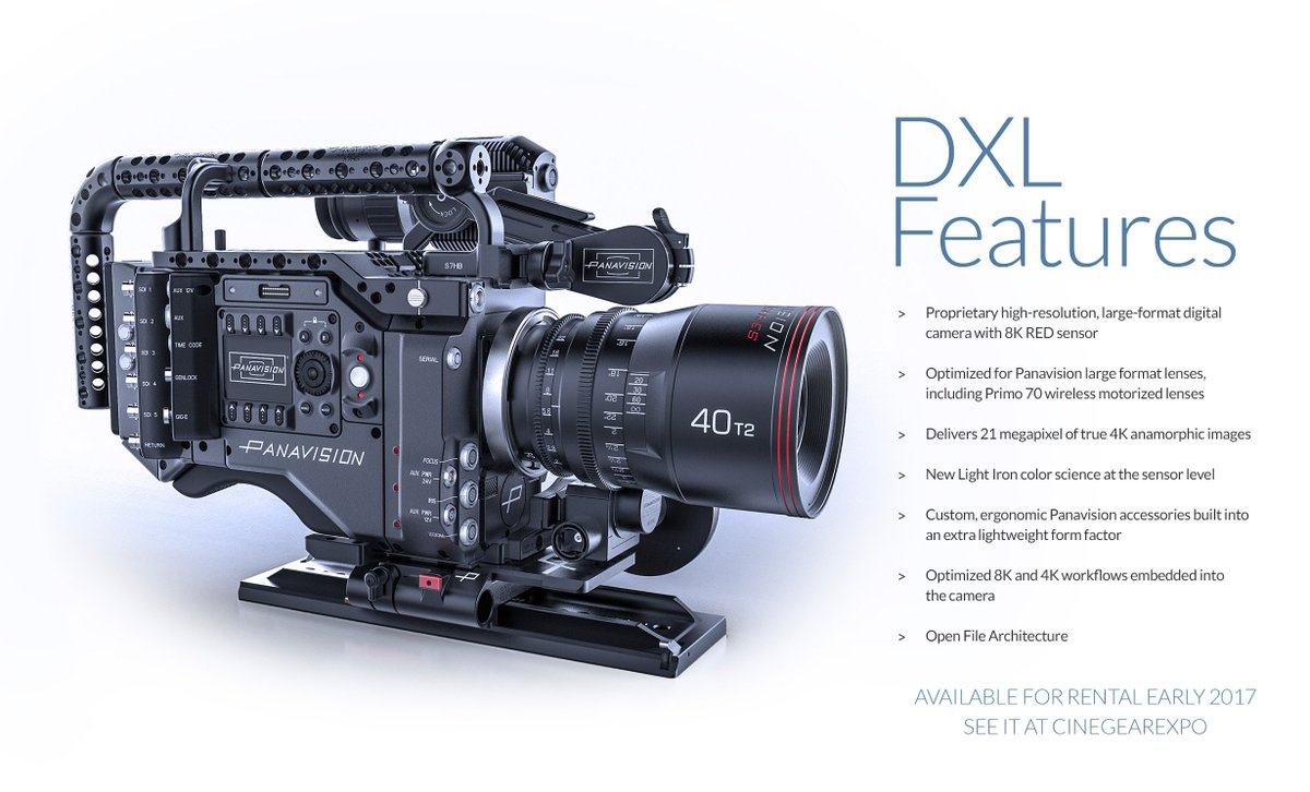 INTRODUCING THE 8K DXL CAMERA BY PANAVISION. Stop by our booth at @CineGearExpo Stage 16. https://t.co/HFEIgDDWrj https://t.co/TKeW3XAG2S