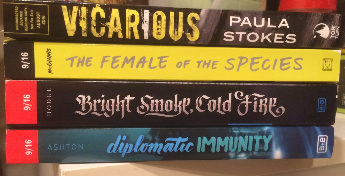 Twitter #giveaway! Follow + RT, winner gets this stack of Fall 2016 ARC's, US Only. Ends 6/30! https://t.co/jT7QxEk60Q