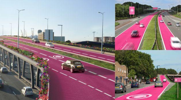 Di London, Inggris, ada jalan khusus bewarna pink untuk pengendara wanita https://t.co/rBzKPjtWC4