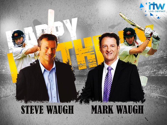 Happy Birthday Steve Waugh and Mark Waugh The first to play in a Test together, They turn 52 Today.