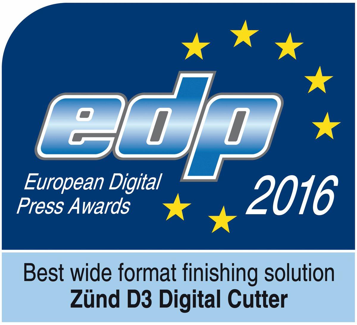 "#doubleyourproductivity ""Best wide format finishing device Zünd D3"" #proud #drupa2016 #zundcutter #edp_award https://t.co/fiOOgtRpJa"