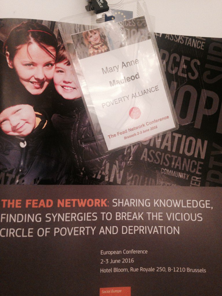Looking forward to learning about @EU_Commission funding for basic needs #FEADNetwork @PovertyAlliance https://t.co/7sJ10UTE0B