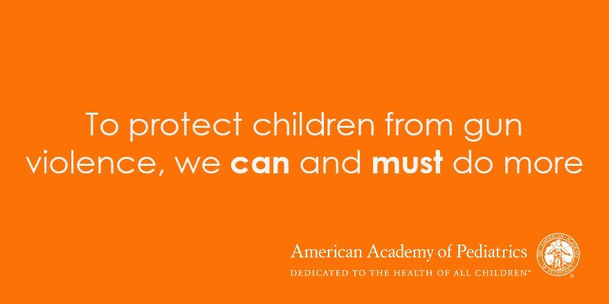 Why we #WearOrange: Pediatricians are committed to protecting children from gun violence https://t.co/iq7P8hWg3Z https://t.co/esiptHSCN8