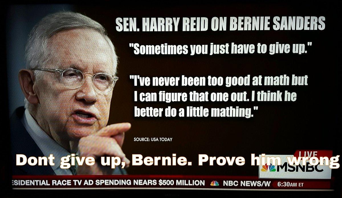 Harry Reid Bernie Sanders step aside