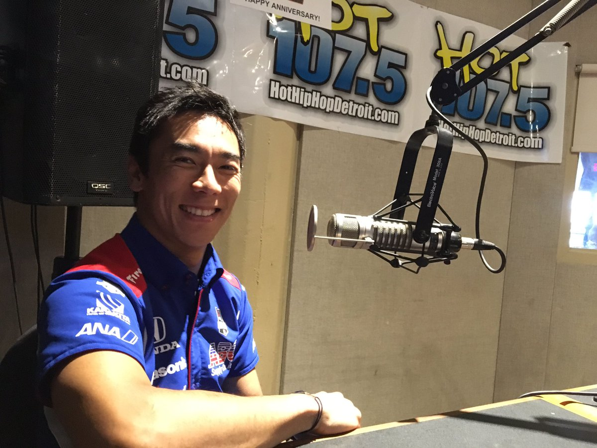 .@TakumaSatoRacer getting some airtime on @hiphopdetroit before doing the same at @detroitgp #IndyCar https://t.co/qXScfXaGLD
