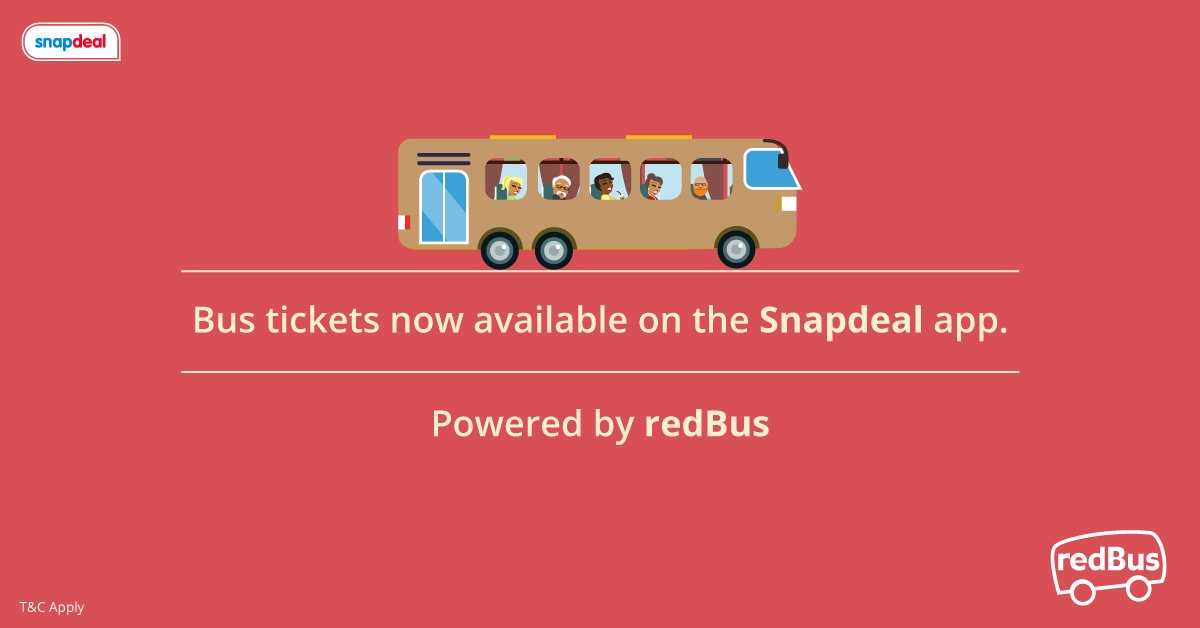 Bus tickets now available on the Snapdeal app! Powered by redBus. https://t.co/NWKzjVphbl